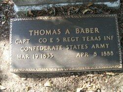 Capt Thomas Anderson Baber