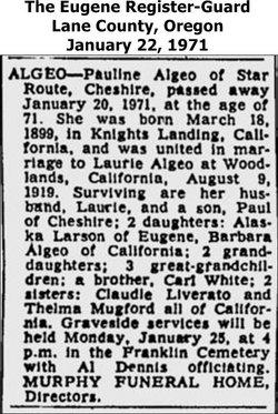 Pauline <i>White</i> Algeo