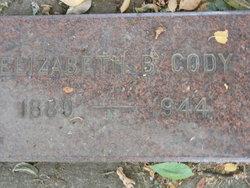 Mrs Elizabeth B. <i>Morgan</i> Cody