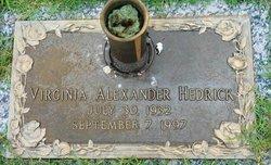 Virginia E. <i>Alexander</i> Hedrick