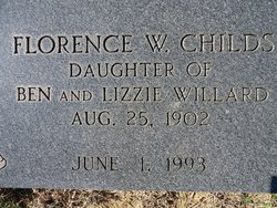 Florence Elizabeth Sister <i>Willard</i> Childs