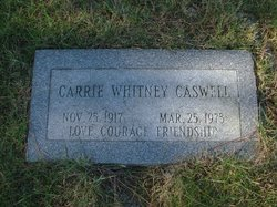 Carrie <i>Whitney</i> Caswell