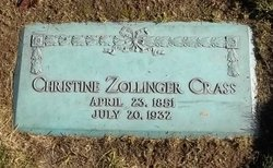 Christine <i>Zollinger</i> Crass