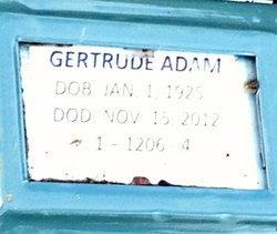 Gertrude A <i>Balliard</i> Adam
