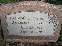 Gertrude E Mattie <i>Swancutt</i> Beck