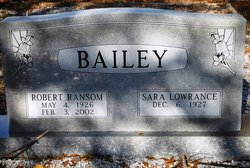 Sara <i>Lowrance</i> Bailey
