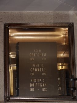 Virginia Covington <i>Critcher</i> Brittsan