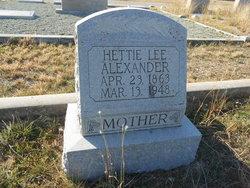 Hettie Lee Alexander