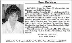 Debbie Kay <i>White</i> Moore