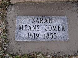 Sarah <i>Means</i> Comer