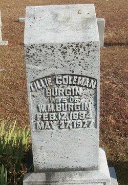Lillie <i>Coleman</i> Burgin