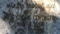 Martha Broome <i>May</i> Covington