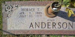 Horace T Anderson