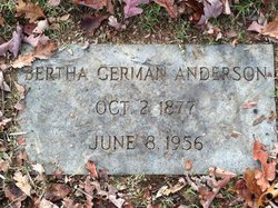Bertha <i>German</i> Anderson