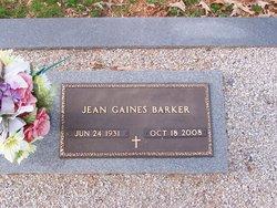 Jean <i>Gaines</i> Barker