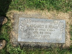Margaret E <i>Gutshall</i> Adair