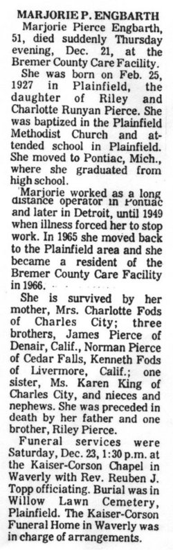Marjorie <i>Pierce</i> Engbarth