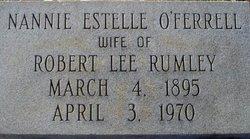 Nannie Estelle <i>O'Ferrell</i> Rumley