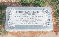 Lydia Jane <i>Rambo</i> Maynard
