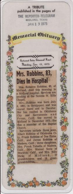 Rebecca <i>Nix</i> Robbins