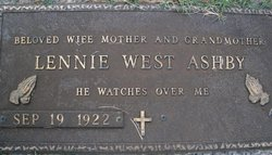Lennie Rhue <i>West</i> Ashby