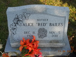 Alice M Red <i>Hines</i> Bailes
