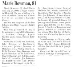 Marie <i>Snellen</i> Bowman