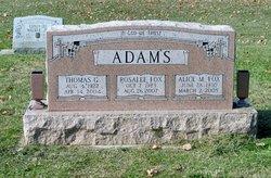 Rosalee Foxy <i>Fox</i> Adams