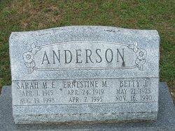Ernestine M Anderson