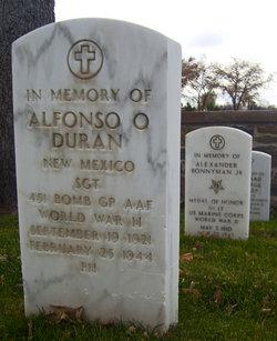 Sgt Alfonso O Duran