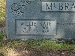 Willie Kate <i>Hollon</i> McBrayer