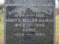 Mary E <i>Miller</i> Bachman