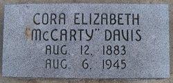 Cora Elizabeth <i>McCarty</i> Davis