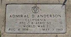 Admiral D. Anderson