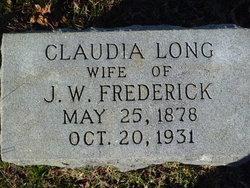 Mary Claudia <i>Long</i> Frederick