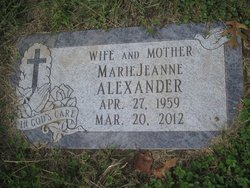 Marie Jeanne MaryJane <i>Lapointe</i> Alexander