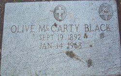 Olive <i>McCarty</i> Black