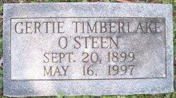 Gertie Timberlake <i>Simpson</i> O'Steen