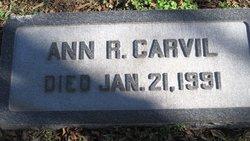 Ann R <i>Regan</i> Carvil