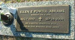 Ellen E. <i>Powell</i> Abrams