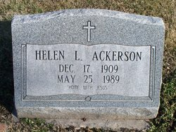 Helen L <i>Greenslate</i> Ackerson