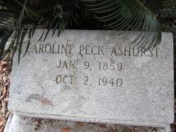 Caroline <i>Peck</i> Ashurst