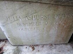 Julia <i>Ashurst</i> Oliver