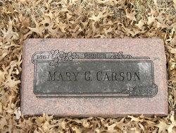 Mary G. <i>Getty</i> Carson