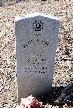 Pvt John H Hall