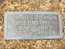 Frances <i>Dickson</i> Abernathy