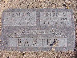 Harold C Baxter