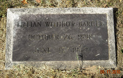 Lillian A. <i>Withrow</i> Barger