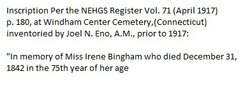 Irene Bingham