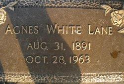 Agnes <i>White</i> Lane
